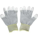 Conductive Glove, Fingers Coated w/Polyurethane Medium - EWAAY.COM