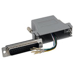 DB25 Male to RJ12 (6 Wire) Modular Adapter Gray - EWAAY.COM
