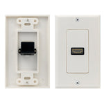 1 Port Decor HDMI Wall Plate, 90 Degree - EWAAY.COM