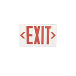 Plastic LED Exit Sign with Backup Battery Red - EWAAY.COM