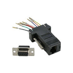 DB9 Female to RJ45 Modular Adapter, Black - EWAAY.COM
