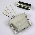 DB25 Female to RJ11 (4 wire) Modular Adapter, Ivory - EWAAY.COM
