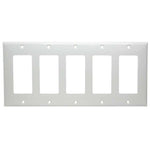 5 Gang Decora Wall Plate White (GFCI)