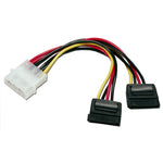 "4P Male to 2x SATA 15P ""Y"" Adapter 8"" - EAGLEG.COM"