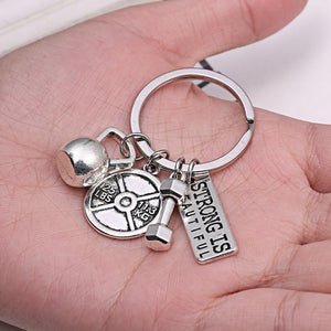 Strong Is Beautiful - Motivational Fitness Keychains - Bobble Strength