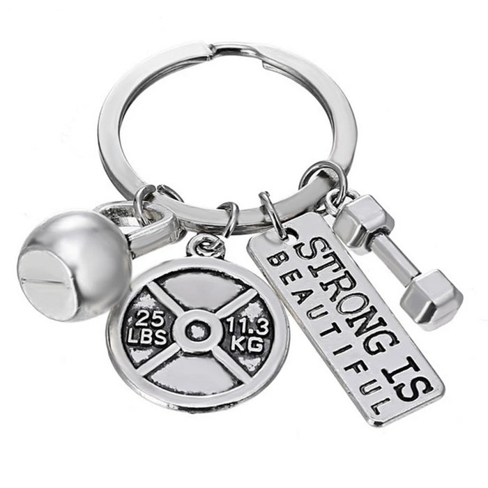 Bundle Strong Is Beautiful - Motivational Fitness Keychains - Bobble Strength