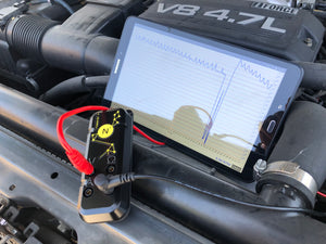 graphing multimeter used to catch drop out and spike on toyota sequoia cmp sensor during rough idle