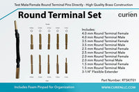 Premium Round Pin Terminal Connector Set