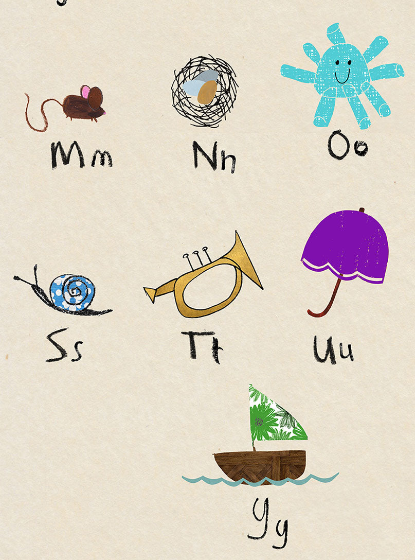 personalised - phonic alphabet poster A2