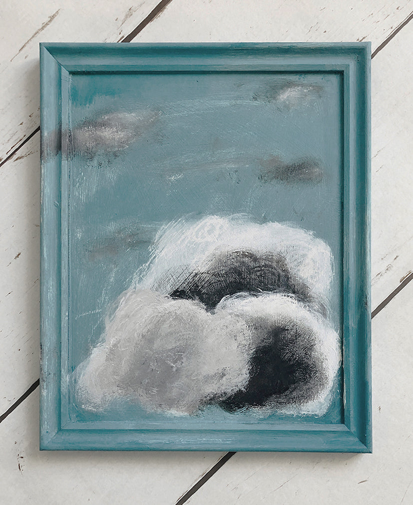 cloud painting 'fish & chips'