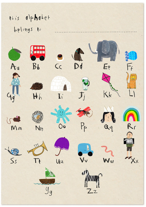"personalised - phonic alphabet poster 18"" x 24"""