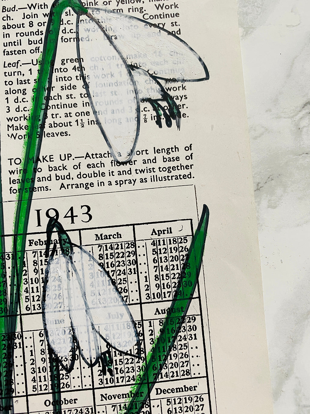 flower drawing - snowdrop