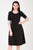 Sloppins Black Knitted A-Line Dress