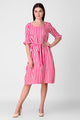 Sloppins Pink Stripe Tie Dress - Sloppins Fashion