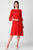 Sloppins Red A-Line Dress - Sloppins Fashion