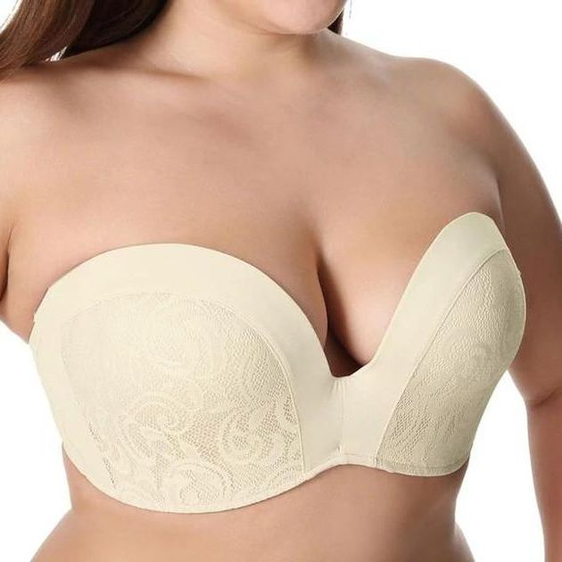 Lightly Padded Lace Plunge Bra - Plus Size Bra Boutique - Dr. Canine's