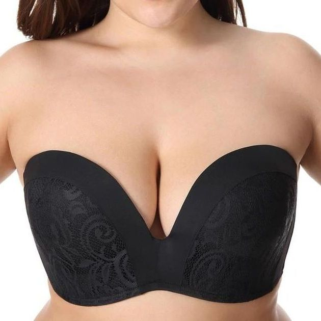 Smooth Convertible Strapless Black Minimizer Bra