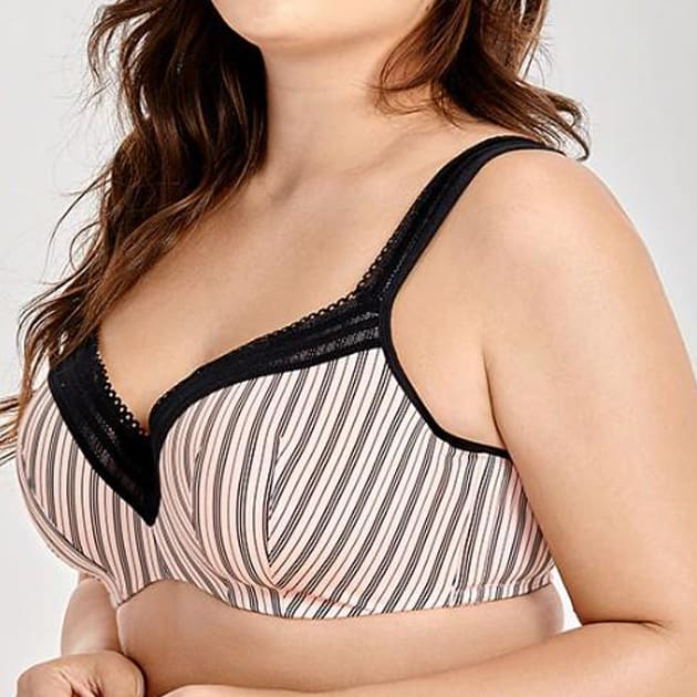 Full Figure Lined Seamless Balconette - Plus Size Bra