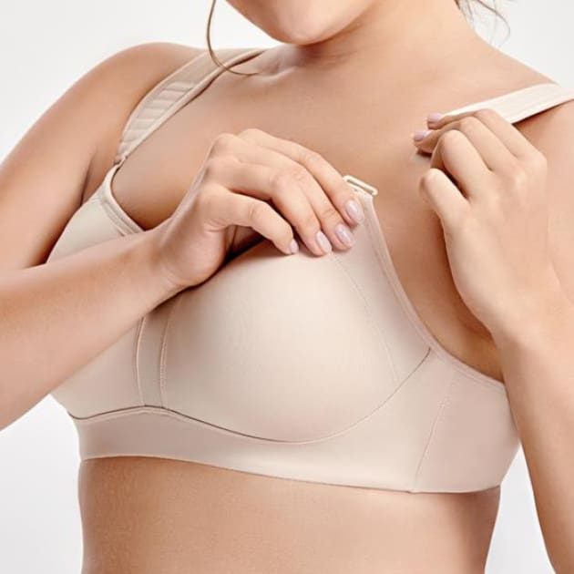 High Control Wire Free Non-Padded White Sports Bra