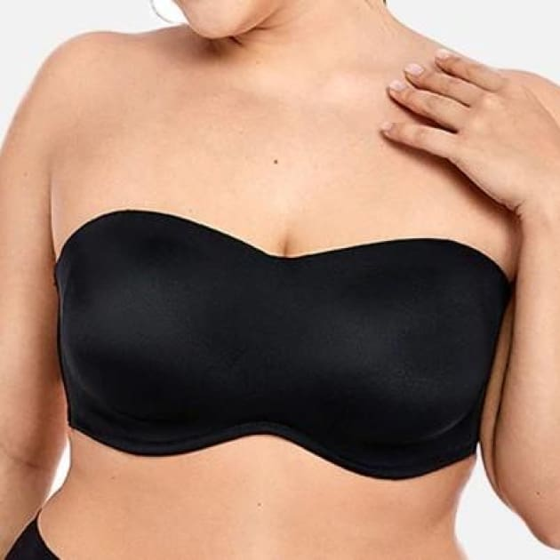 Smooth Convertible Strapless Black Minimizer Bra - Plus Size Bra - Convertible Minimizer Strapless