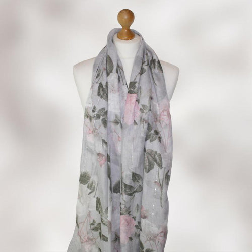 Rose Floral /& Butterfly Print Scarf Classic Satin Stripe Printed Scarves Wrap