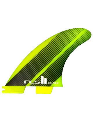 FCS II Carver Neon Glass Large Tri Fin Set