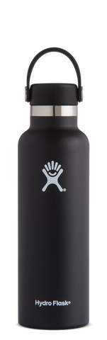 Hydro Flask 21oz / 621mL Standard Mouth Bottle - Black