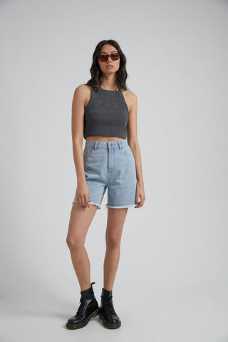 Shelby Hemp Denim Cut Off Short