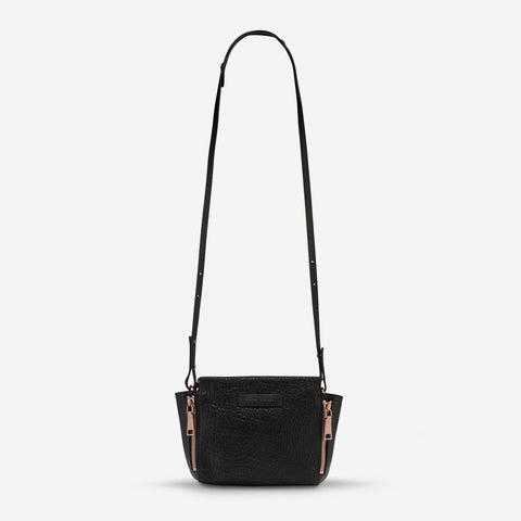 The Ascendants Black Bubble Rose Gold Bag