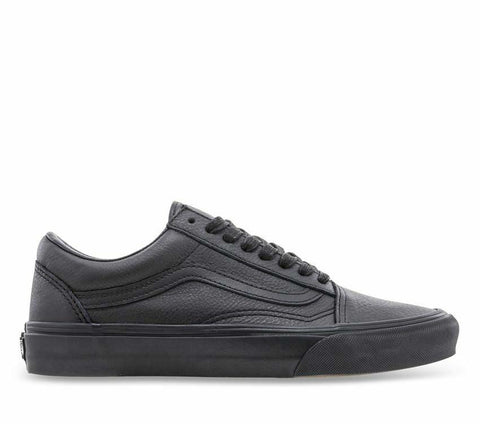 Kids Old Skool Leather Black/Black Shoes
