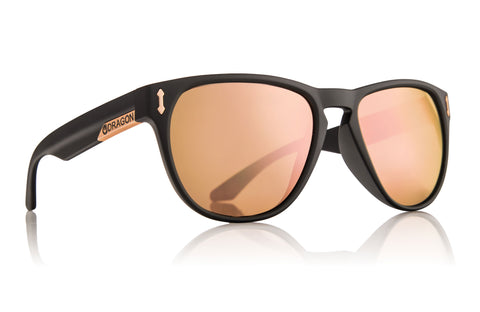 Marquis Matte Black/Rose Gold Ion Sunglasses