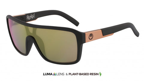 Remix LUMALENS Matte Black/Rose Gold Ion Sunglasses