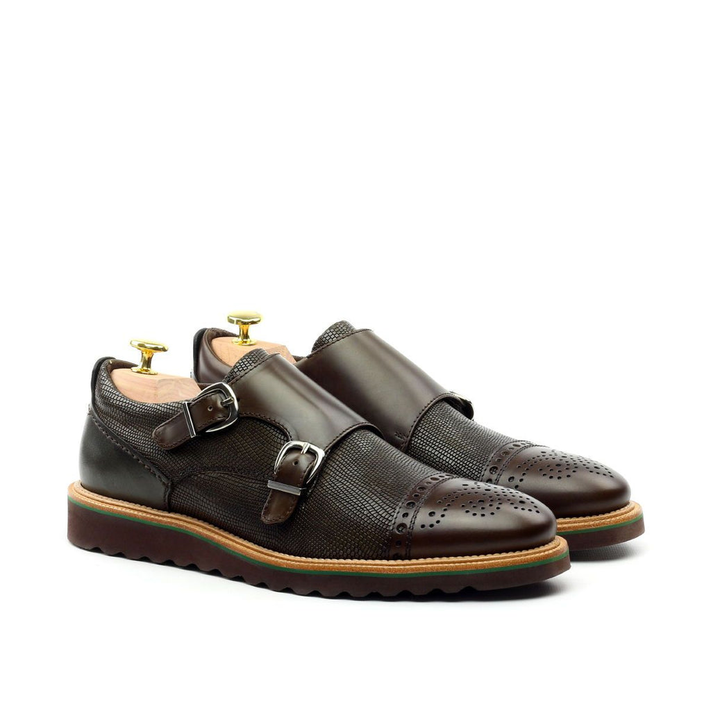 DOUBLE MONK STRAP CAP TOE DERBY