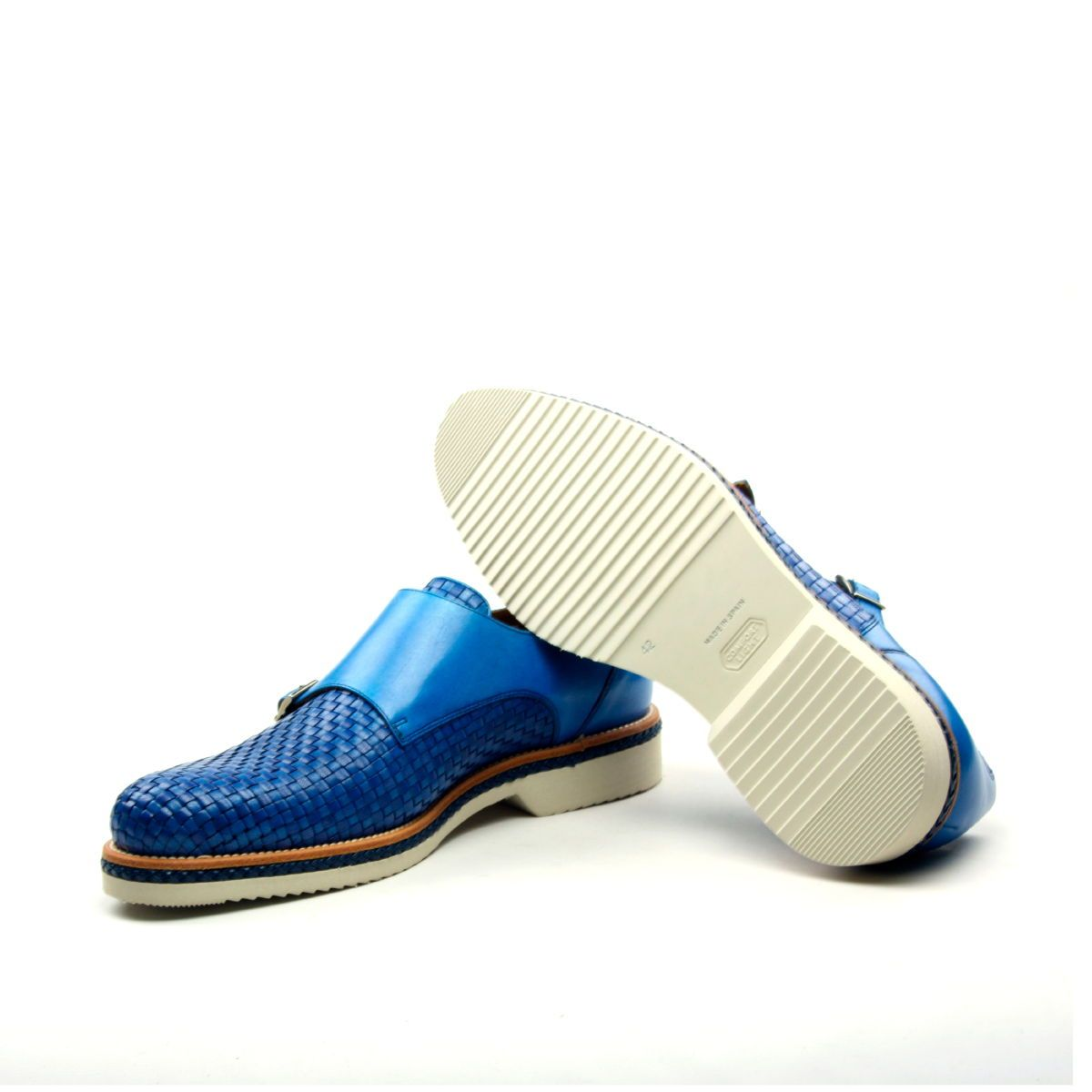 Omine Woven Double Monk Strap Shoe