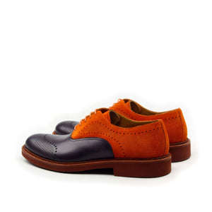 Omine Engraved Toe And Perforated Details Oxford