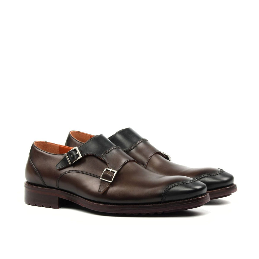 Omine Double Monk Strap Cap Toe Shoe