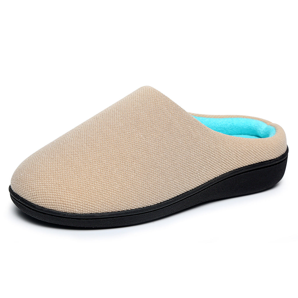 Women's Memory Foam Slipper Comfort Slip On Lining Indoor/Outdoor House Slippers