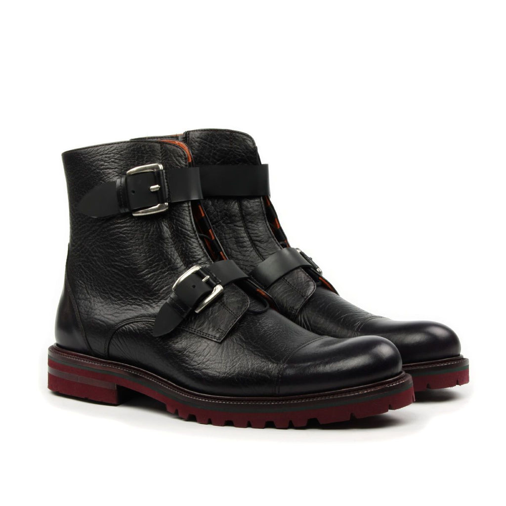 Omine Cap Toe Double Strap Boot