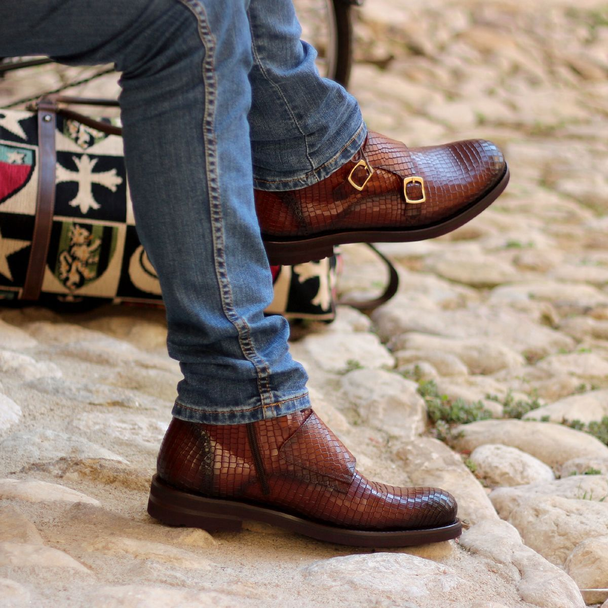 Omine Double Monk Strap Chukka Boot