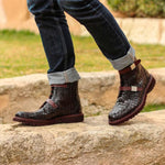 Omine Double Strap Cap Toe Boot