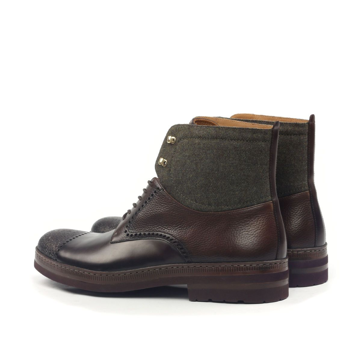 Omine Engraved Cap Toe Chukka Boot