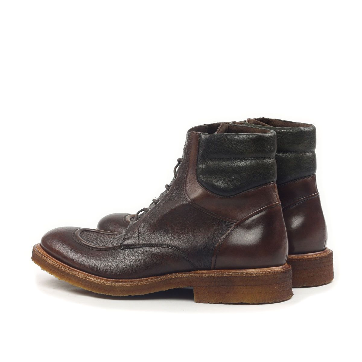 Omine Engraved Leather Vamp Chukka Boot