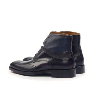Omine Engraved Wingtip Chukka Boot