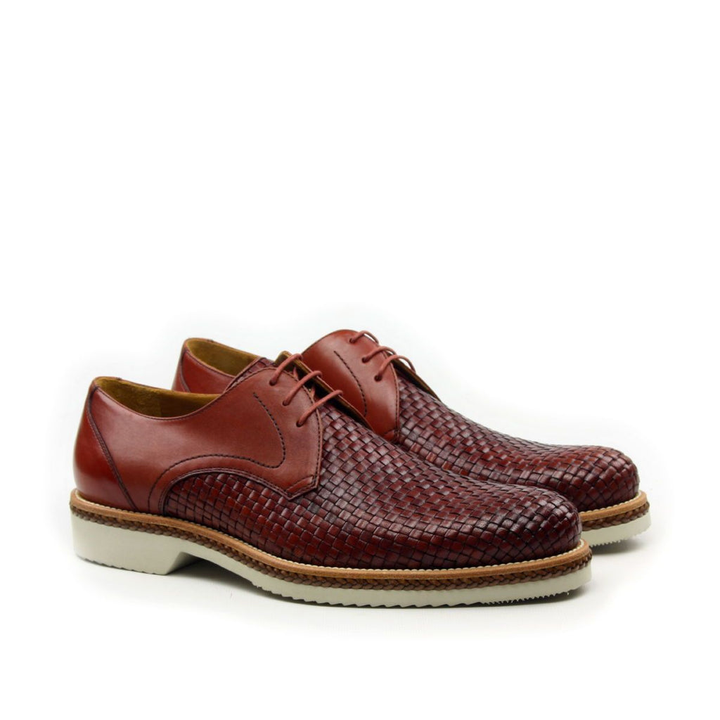 Omine Half Woven Leather Derby