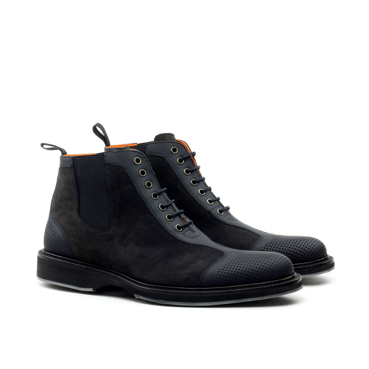 Omine Multi Textured Lace Up Boot