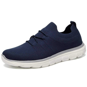 Fashion Casual Flyknit Sneakers for Men Lace Up for Running Walking - Golaiman