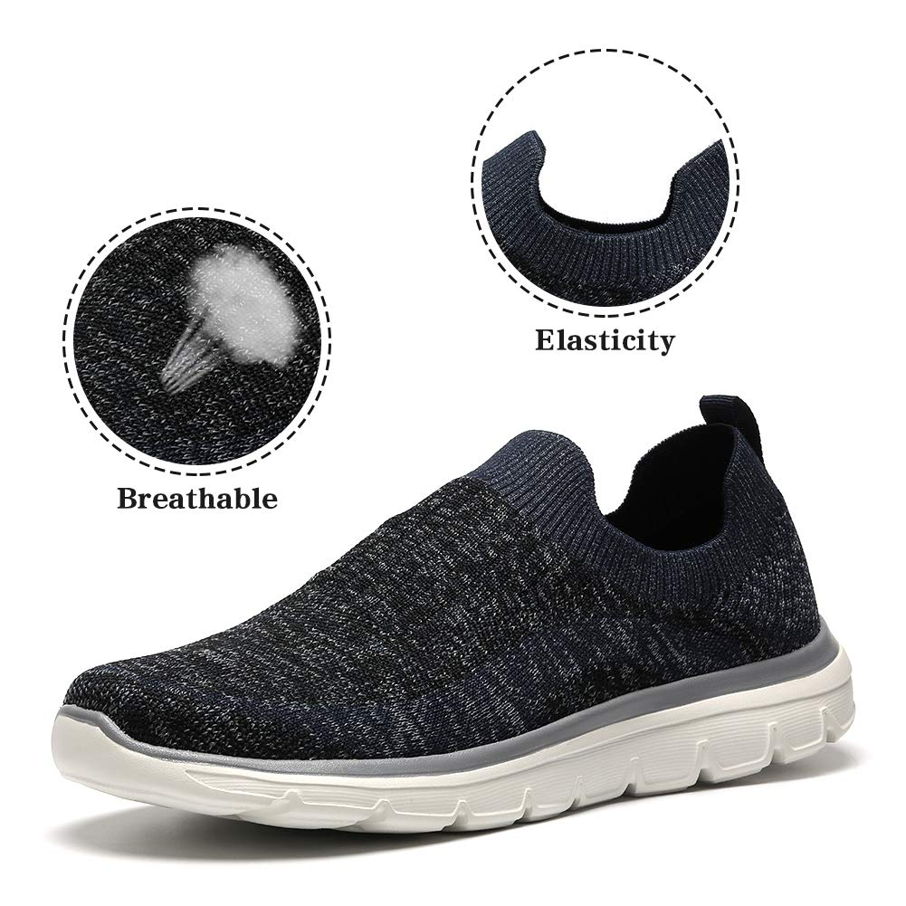 Omine Men's Slip-On Sneakers Mesh Ultra Lightweight Running Walking Gym