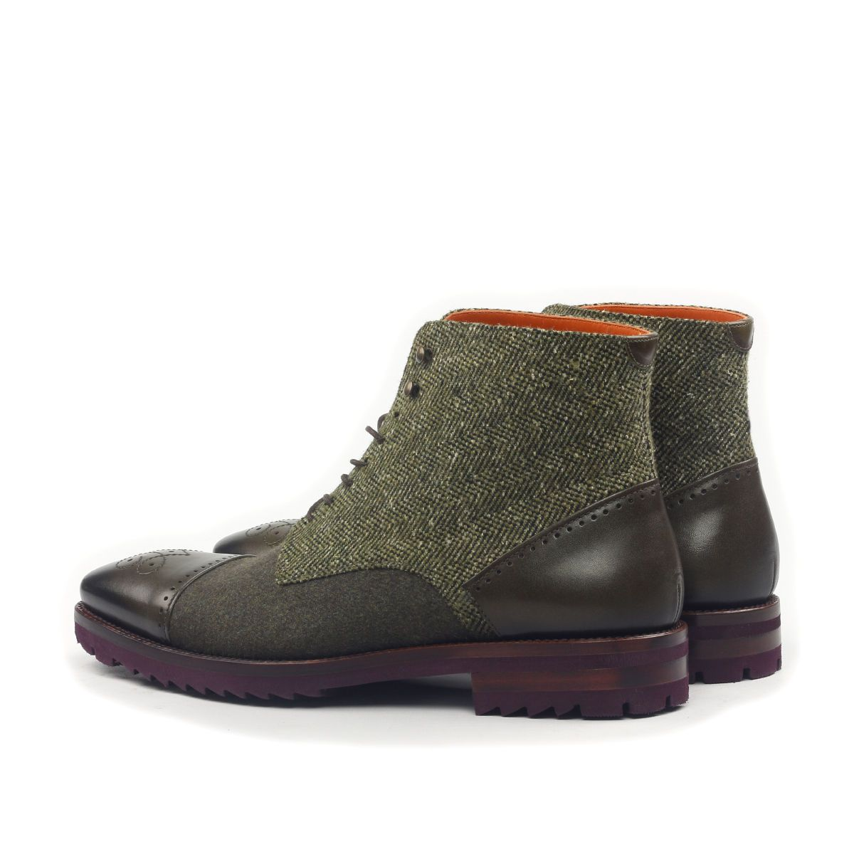 Omine Perforated Cap Toe Chukka Boot