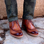 Omine Perforated Leather Chukka Boot