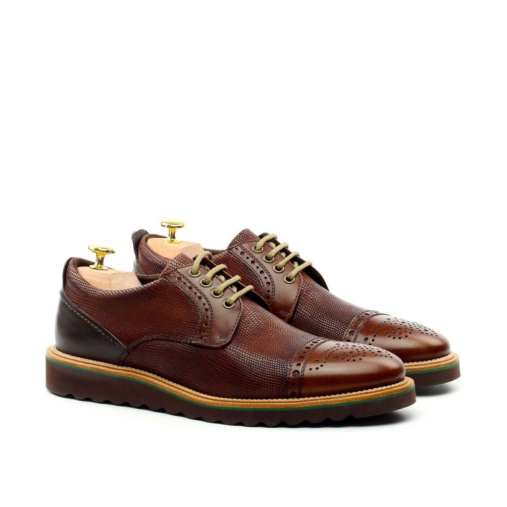 Omine Semi Brogue Cap Toe Derby